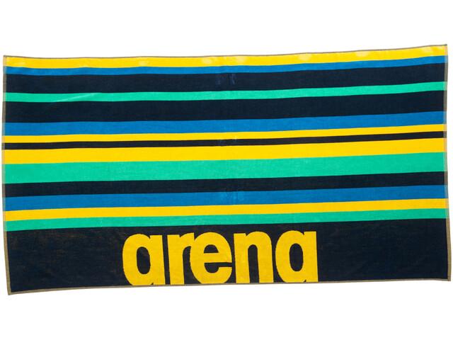 arena Beach Multistripes Towel, navy/multi